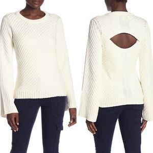 Joie Lauraly Open Back Cable Sweater